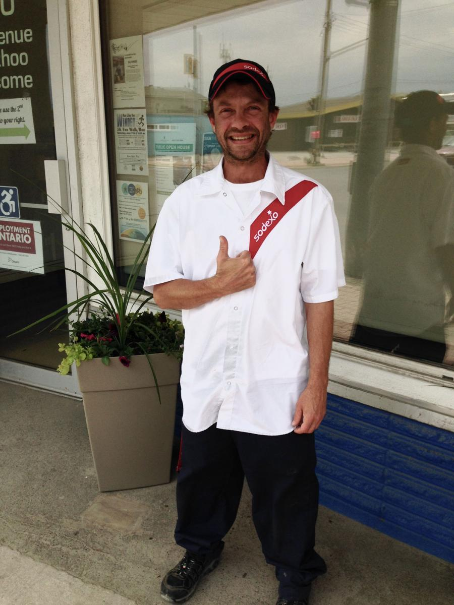 Mike Foster out front of NCDS office in Fort Frances Ontario